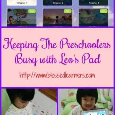 Keeping The Preschoolers Busy with Leo's Pad