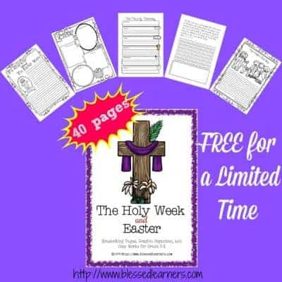 {Printable} The Holy Week and Easter Notebooking Pages and More