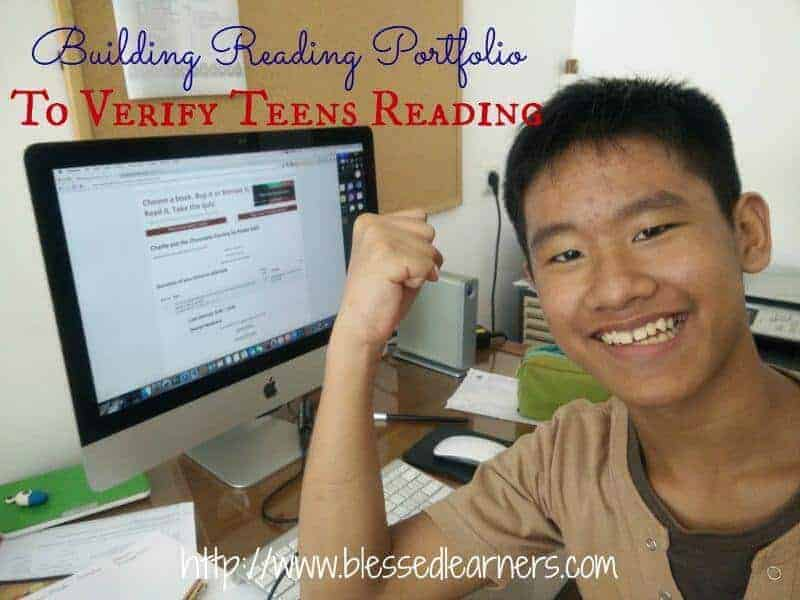 Building Reading Portfolio To Verify Teens Reading