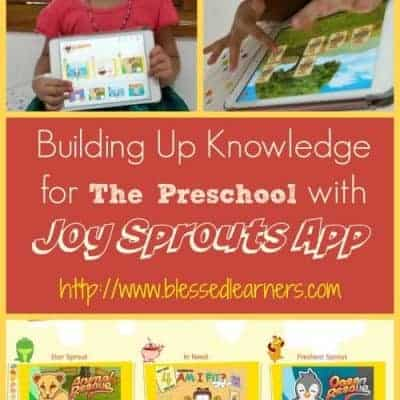 Building Up Knowledge for The Preschool with Joy Sprouts App