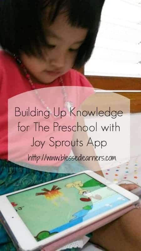 Building Up Knowledge for The Preschool with Joy Sprouts App1