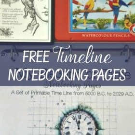 Get FREE Timeline Notebooking Pages to help your children record and organize the years in different subjects so that the learning will be more interesting