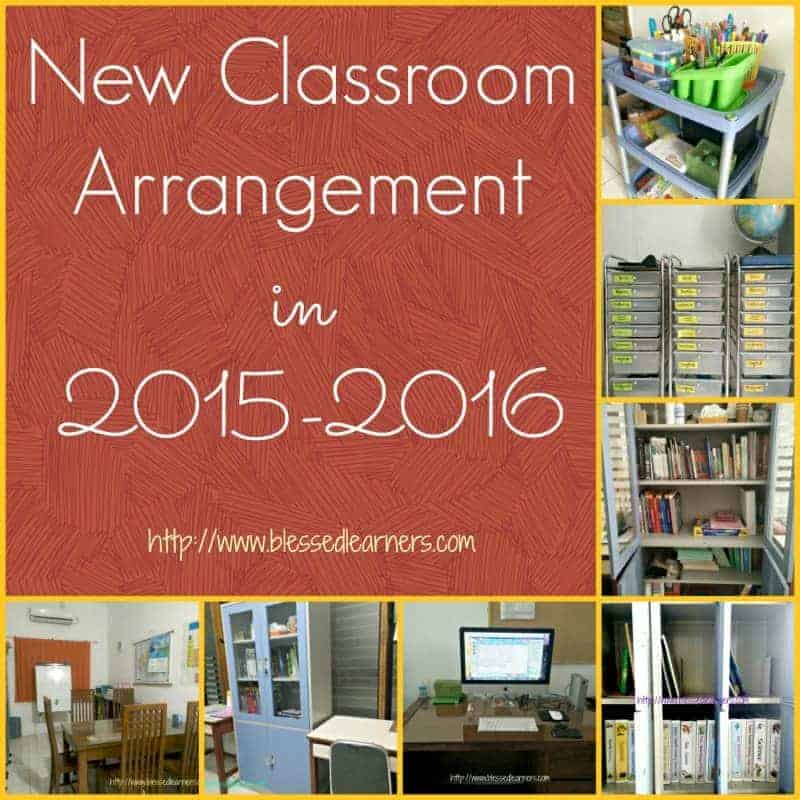 New Classroom Arrangement in 2015-2016