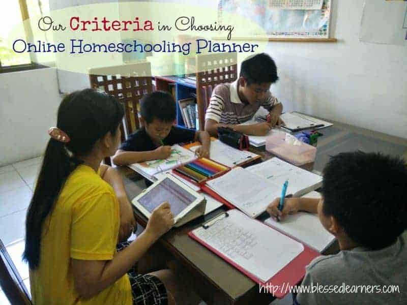 Our Criteria in Choosing Online Homeschooling Planner