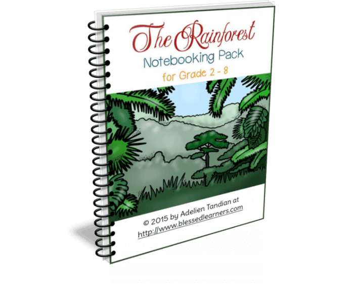 Rainforest Notebooking Pack