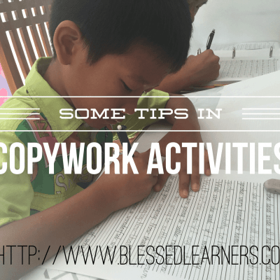 Some Tips on Copy Work Activities