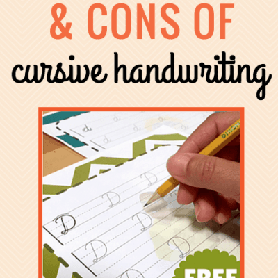 {Freebies} Cursive Writing: Pros and Cons