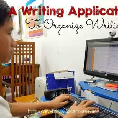 A Writing Application To Organize Writing