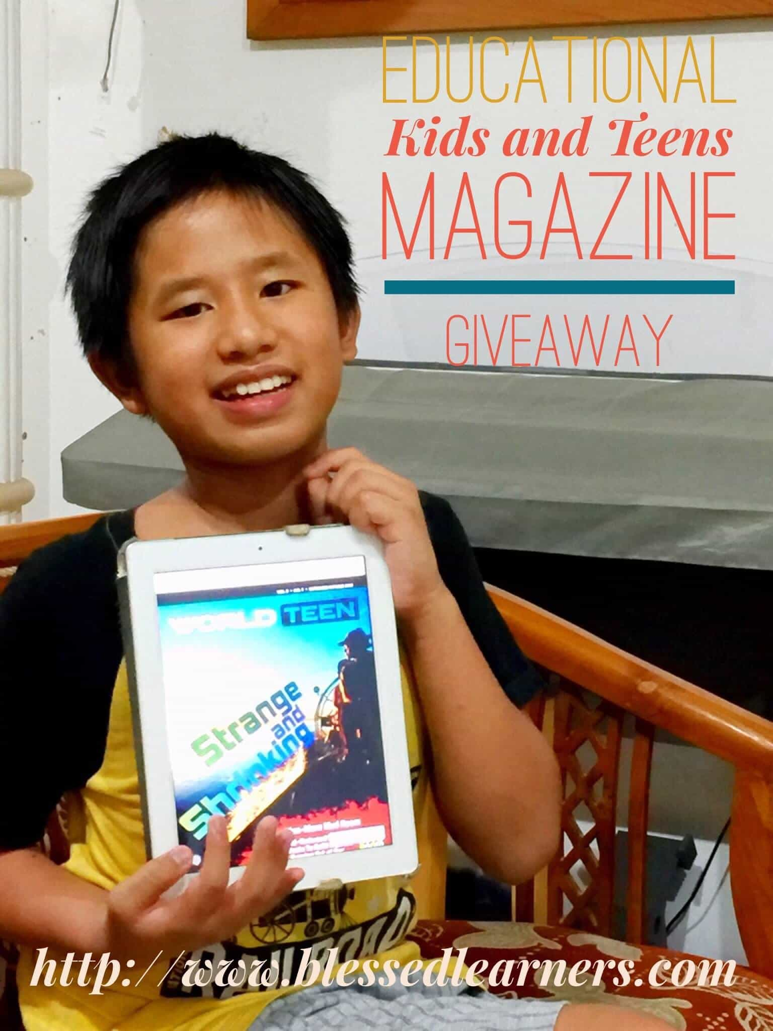 teen giveaway giveaway educational kids and teens magazine blessed 4472