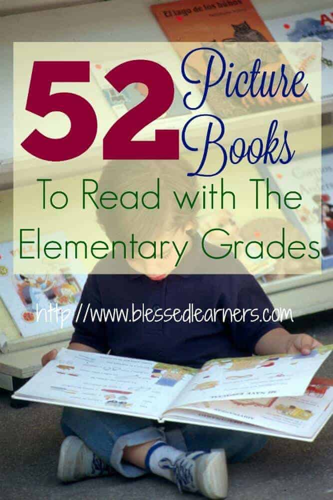 52 Picture Books to Read with The Elementary Grades pin