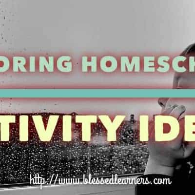25 Boring Homeschooling Activity Ideas