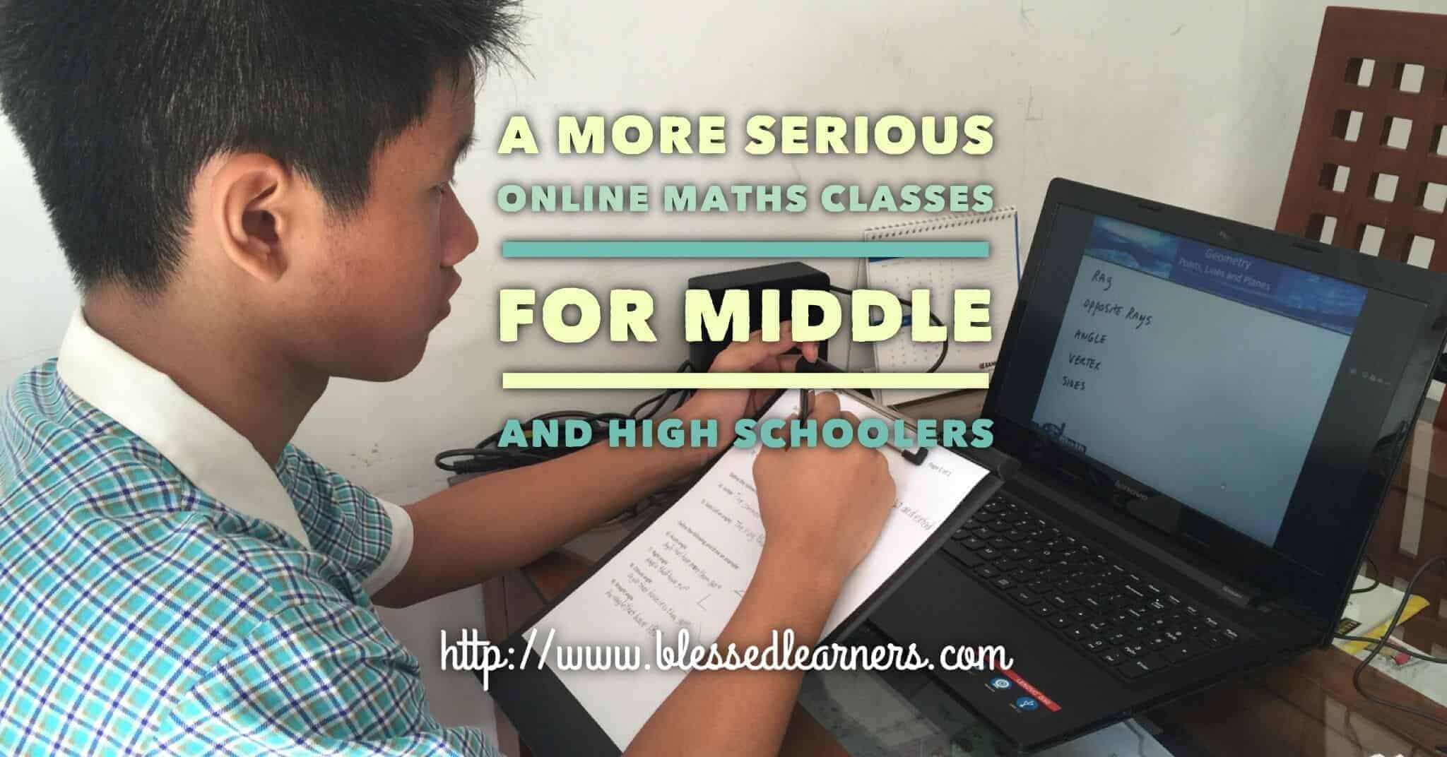 A More Serious Online Maths Classes for Middle and High Schoolers ...