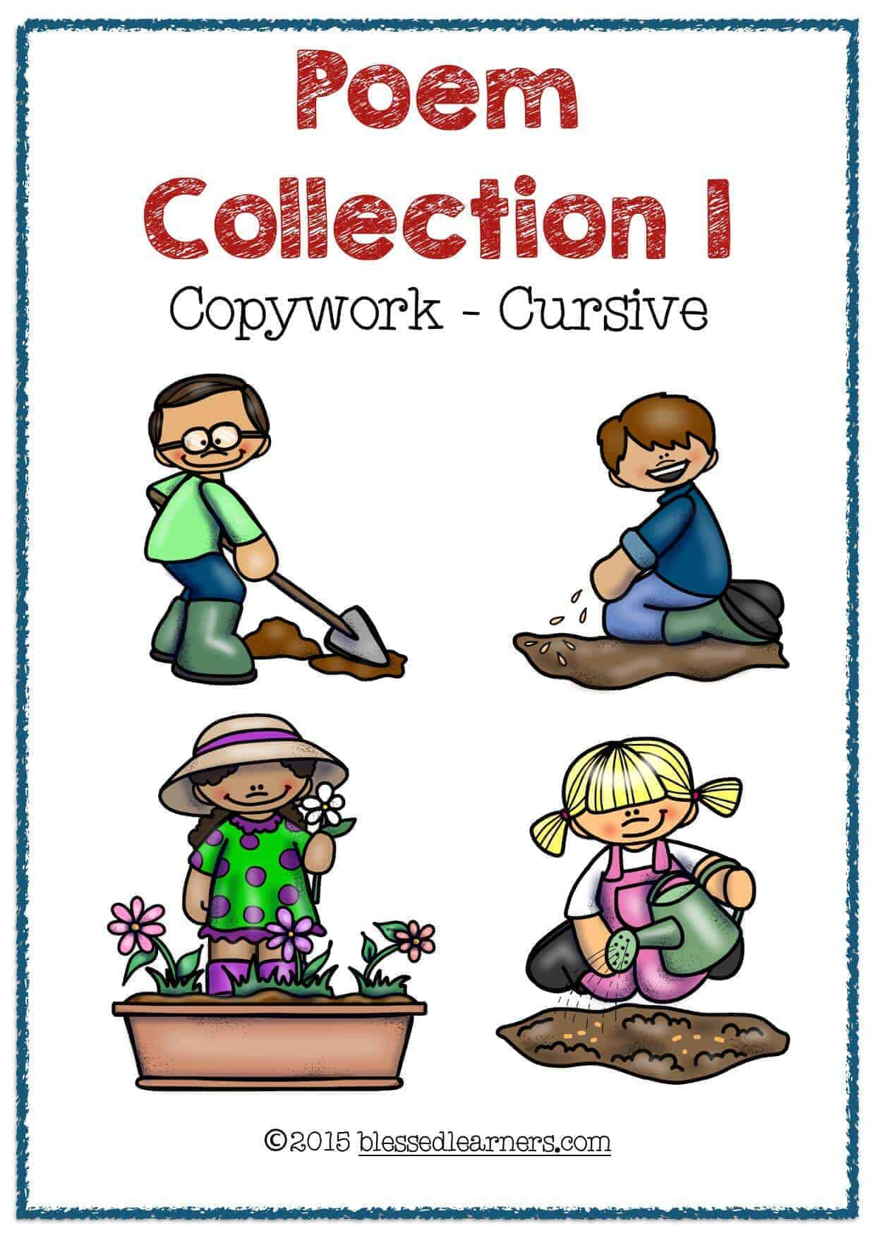 Poem Collection Copywork consists of 8 poems in a pack.