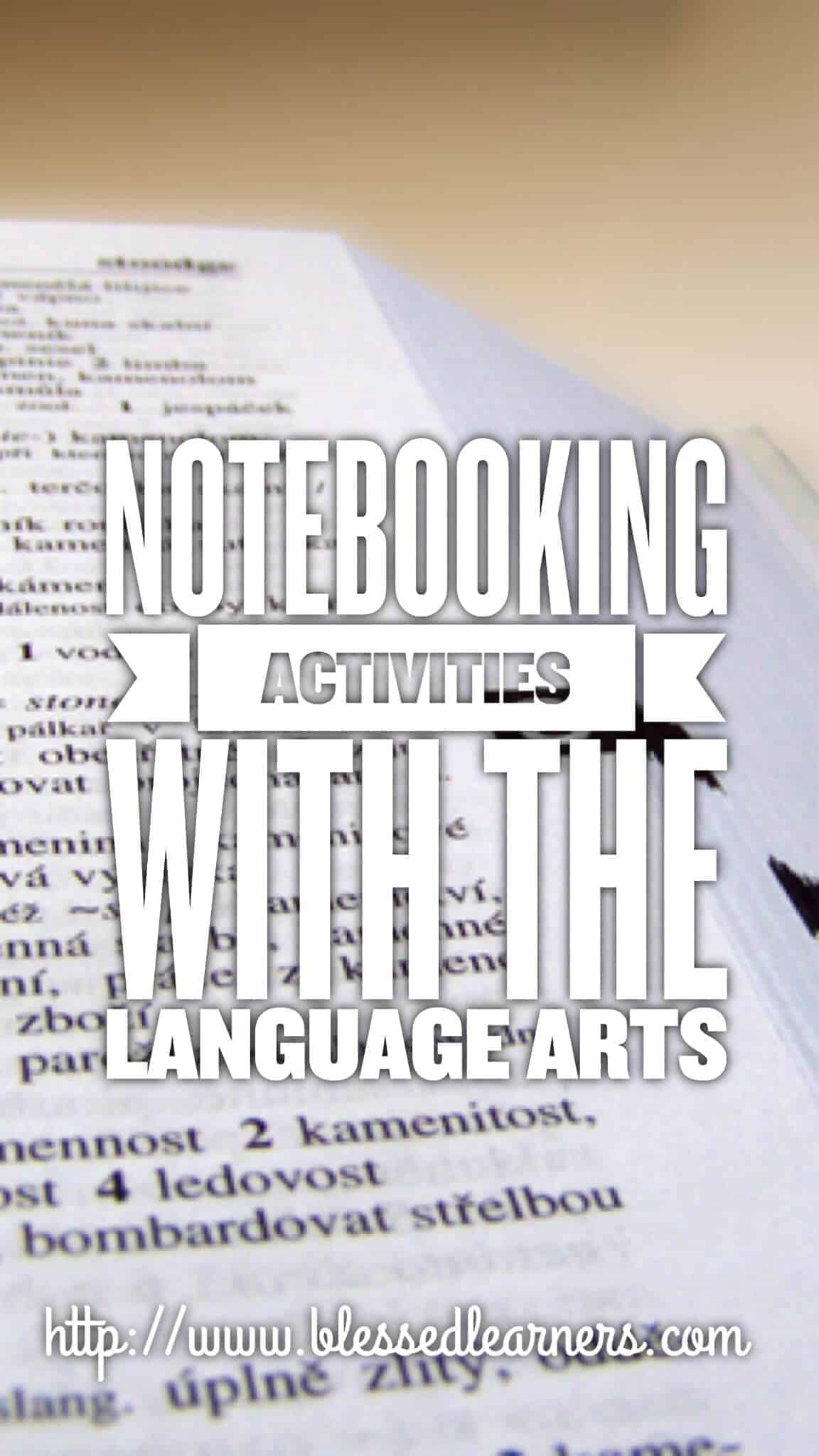 notebooking activities with the language arts