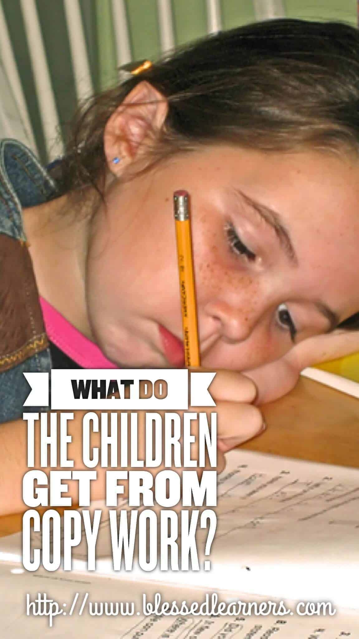 What Do The Children Get From Copy Work?