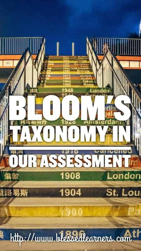 Bloom's Taxonomy in Our Assessment