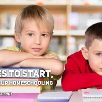 Resources to Start, Renew, and Live Up Homeschooling