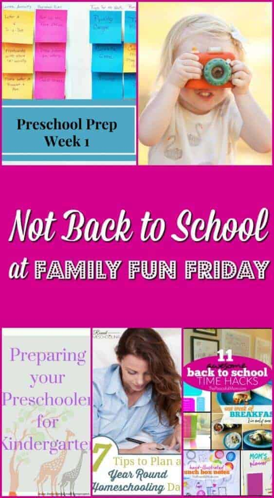 Not Back to School at Family Fun Friday