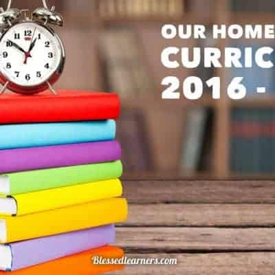 Our Homeschooling Curriculum 2016 – 2017