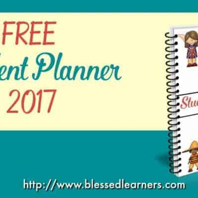 FREE Student Planner 2017
