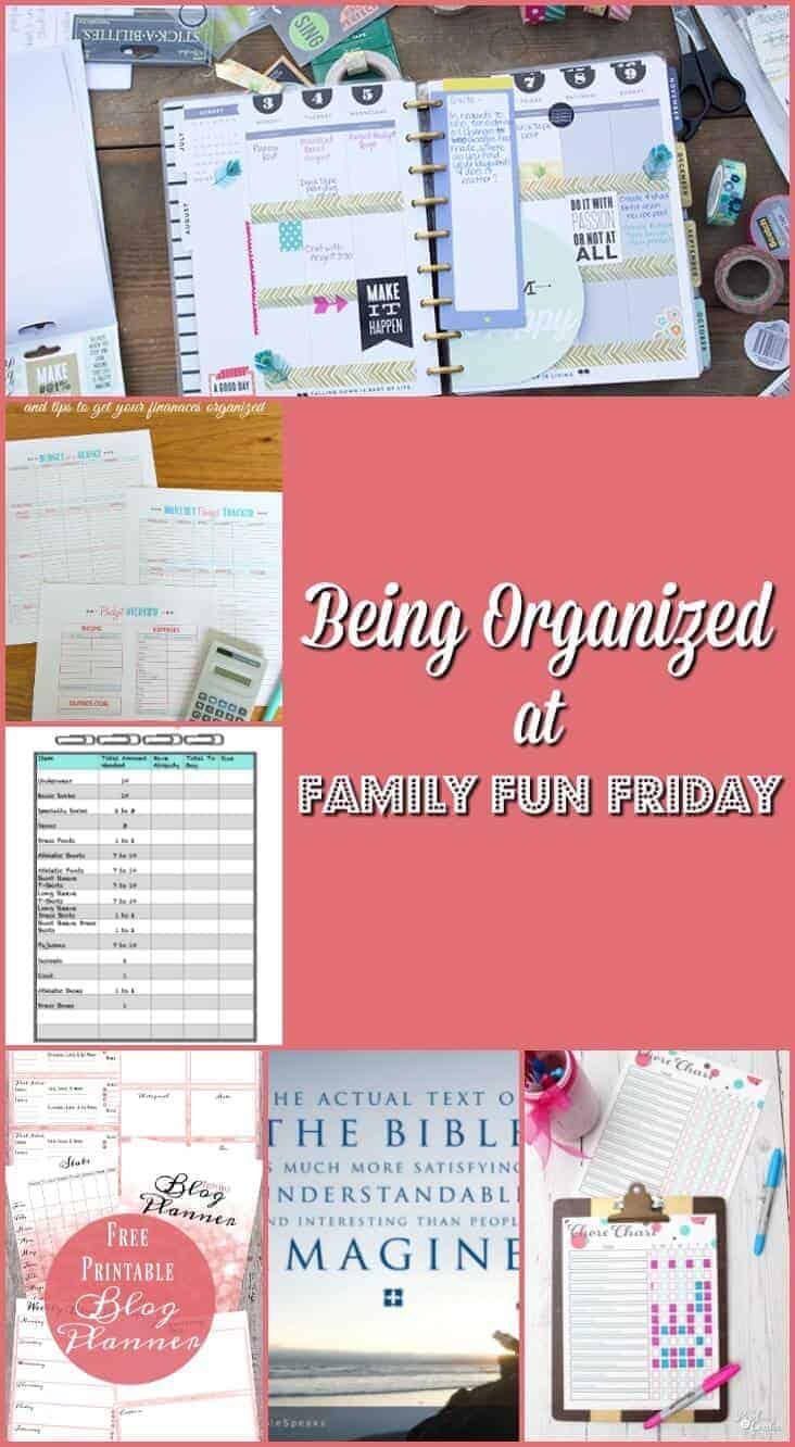 Tools to Be Organized at Family Fun Friday