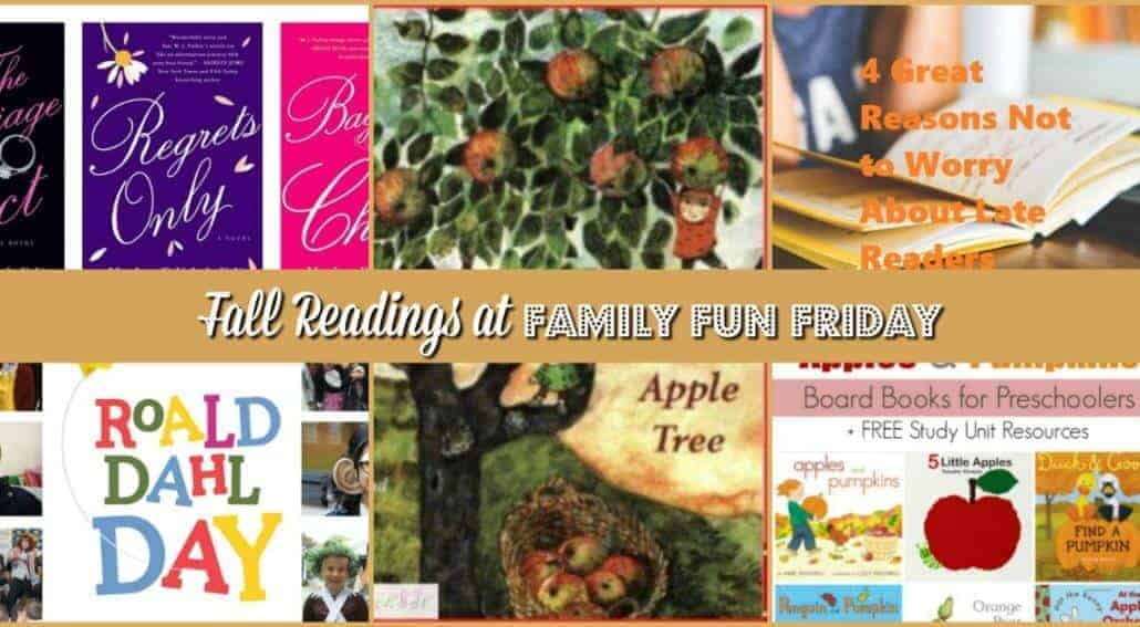 The fall season is coming. Fall readings are not less fun than summer readings. Here is some reading list and tips for fall readings at Family Fun Friday.