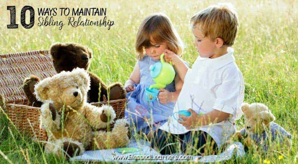 To maintain sibling relationship are not only for children, but it is also for adults as well. How do you help children maintain sibling relationship?