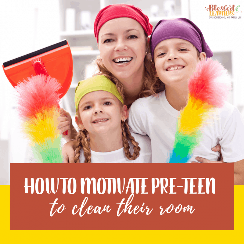 Many parents struggle to motivate pre-teen to clean their room. Do you have any rules to help pre-teen maintain clean room? #Parenting #Chore #Preteen