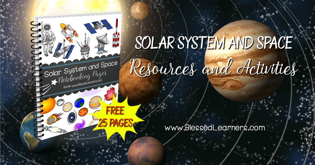 Here is a list of reccomended solar system and space resources and activities to accompany the astronomy study in Solar System and Space Notebooking Pages.