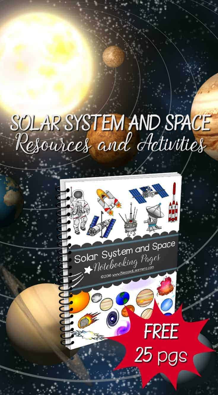 Here is a list of recommended solar system and space resources and activities to accompany the astronomy study in Solar System and Space Notebooking Pages.