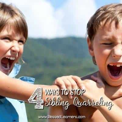 4 Ways to Stop Sibling Quarreling