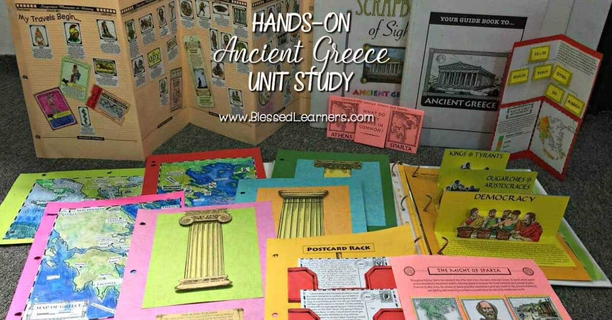 Hands-on Project Passport Ancient Greece Unit study will give wonderful learning experience in the world history with several alive learning skills covered.