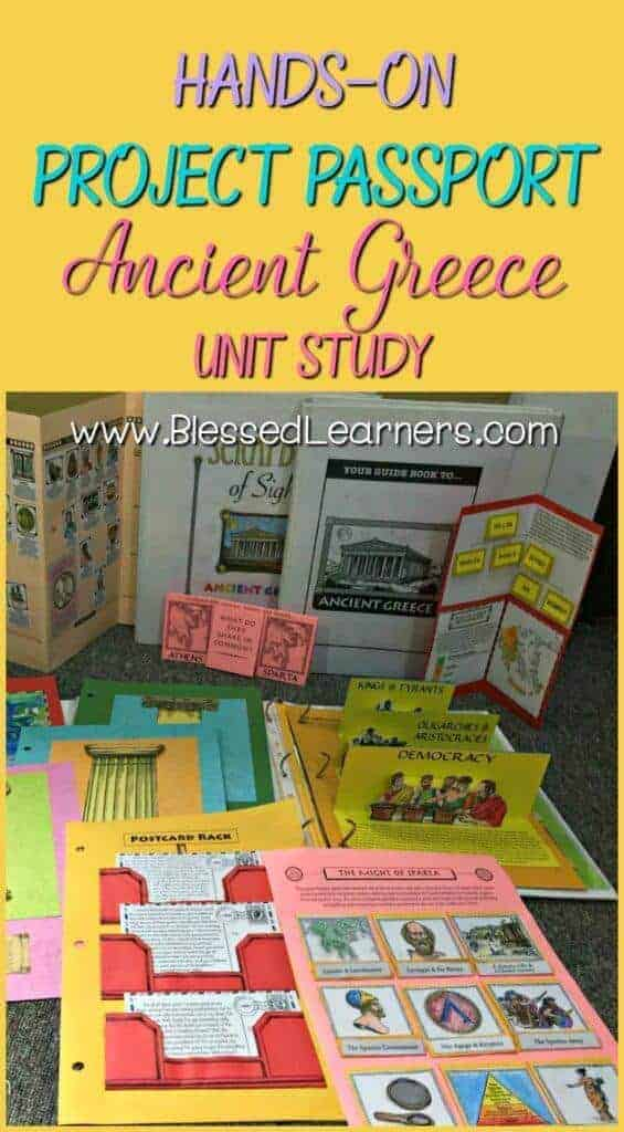 Hands-on Project passport: Ancient Greece Unit study will give wonderful learning experience in the world history with several alive learning skills covered.