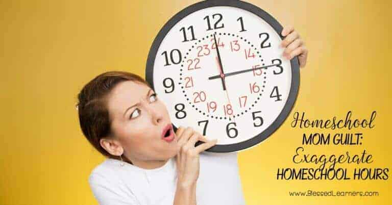 How many homeschool hours do your children have daily? Do you meet the government standard? Exaggerate homeschool hours make homeschool mom guilt.