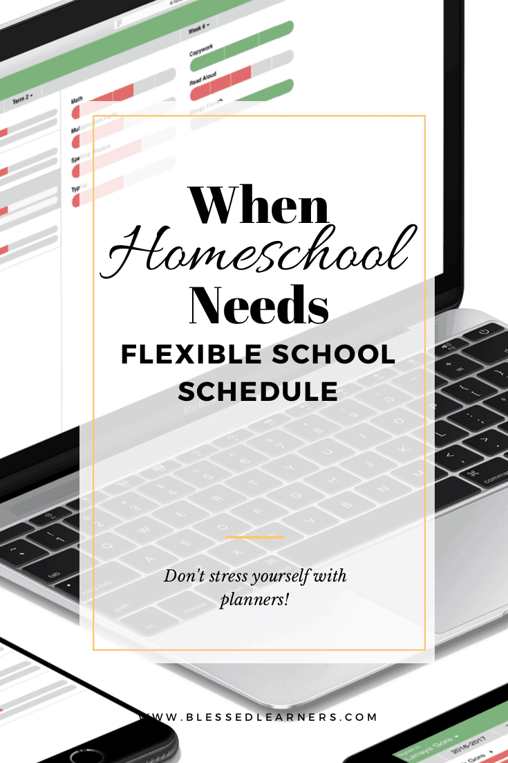 There are a lot of time when excuses come to homeschool. They demand great flexible school schedule to make sure homeschool meet the goals.