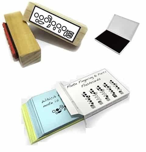 Flute Student Gift Pack (Flashcards, Fingering Rubber Stamp & Pad!) …