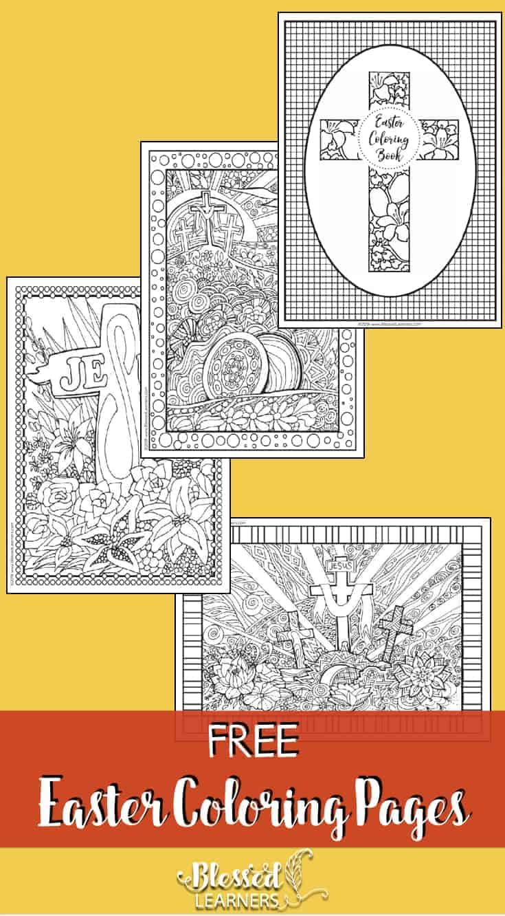 Although a bunny and eggs are very popular in Easter, Since the beginning, Cross is the main symbol of Easter for Christian. Today, I would like to share some free Easter coloring pages at the end of this post. #Easter #Coloring #Printables