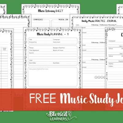 FREE Printable – Music Study Journal