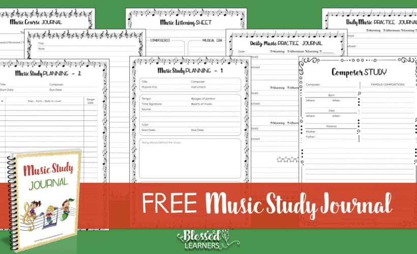 Are you looking for a tool to keep your children motivated in learning music? Being consistent and discipline is a way to make children more motivated in learning music. Today I am going to giveaway a set of free music study journal.