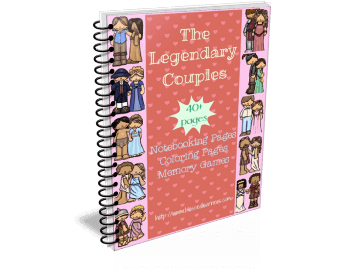 Legendary Couples Notebooking Pages