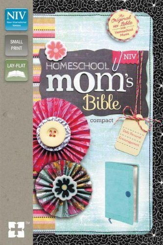 NIV, Homeschool Mom's Bible, Compact, Leathersoft, Blue: Daily Personal Encouragement