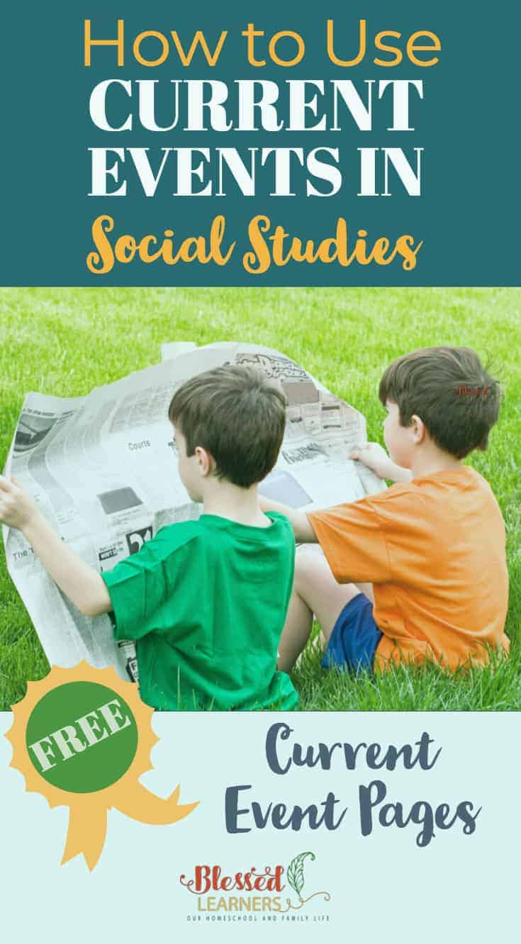 Using current news for social study in your homeschool classroom is a brilliant way to teach your children about current events in society. There are many reasons to use current events for social study and we have several tips on how to use current events for social study. #Homeschool #CurrentEvents #SocialStudies