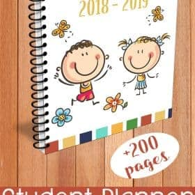 Parents can help them writing their planner until they are ready to be independent. ThisStudent Planner 2018 - 2019 with dates will help both parents and students to practice the time management skills.
