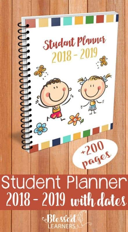 Parents can help them writing their planner until they are ready to be independent. This Student Planner 2018 - 2019 with dates will help both parents and students to practice the time management skills.