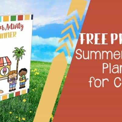 FREE Printable: Summer Activity Planner for Children