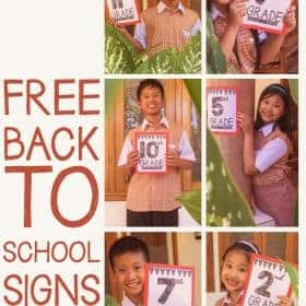 FREE Back to School 2018 - 2019 Signs