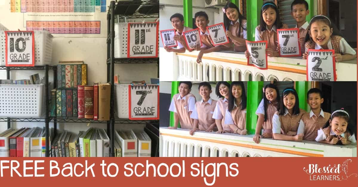 Do you have any back to school tradition with your children? We always take their pictures on the first day of school year. Special for this year, a create 2018 - 2019 back to school signs free printables for them