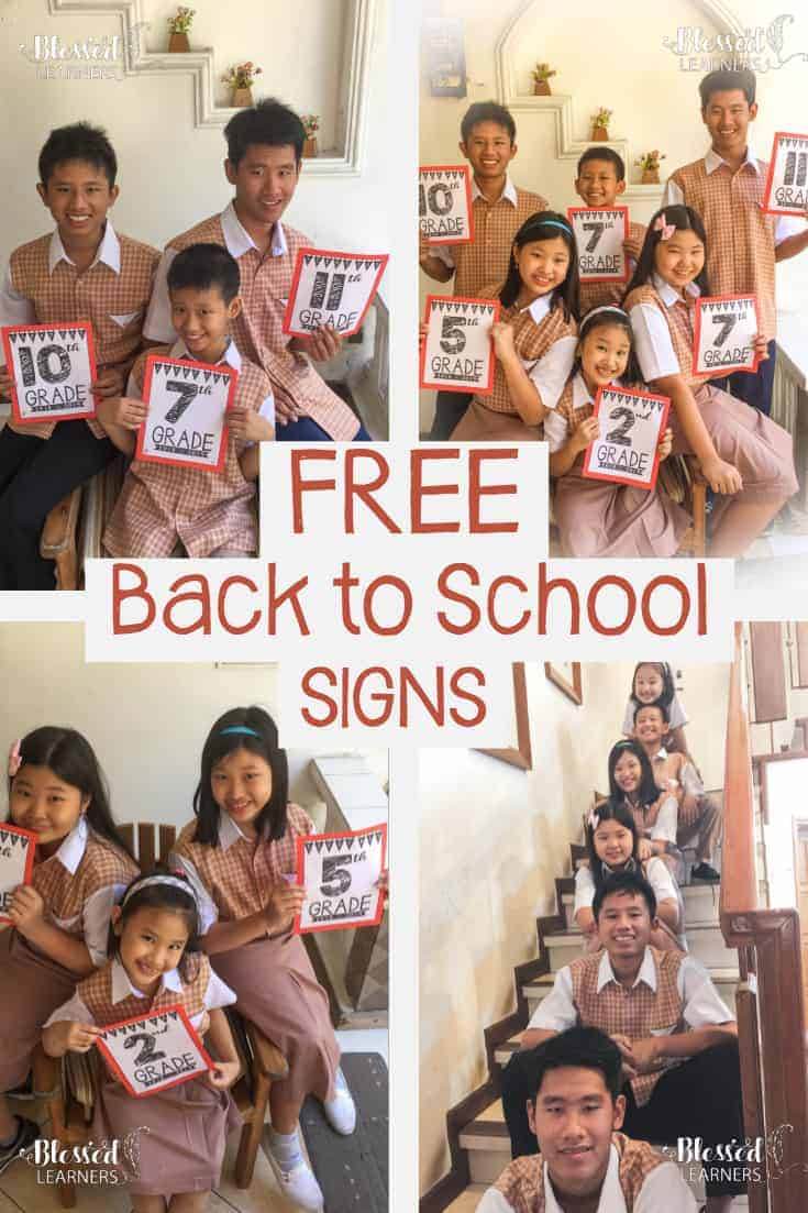 Do you have any back to school tradition with your children? We always take their pictures on the first day of school year. Special for this year, a create 2018 - 2019back to school signs free printables for them