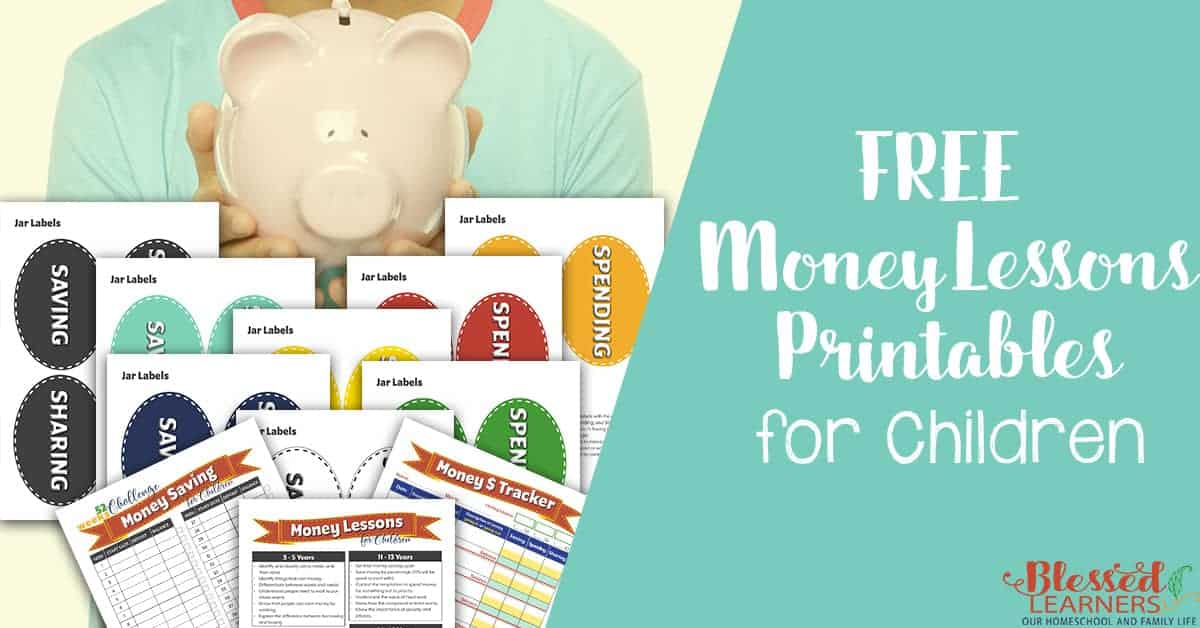 free money lesson printables for children blessed learners