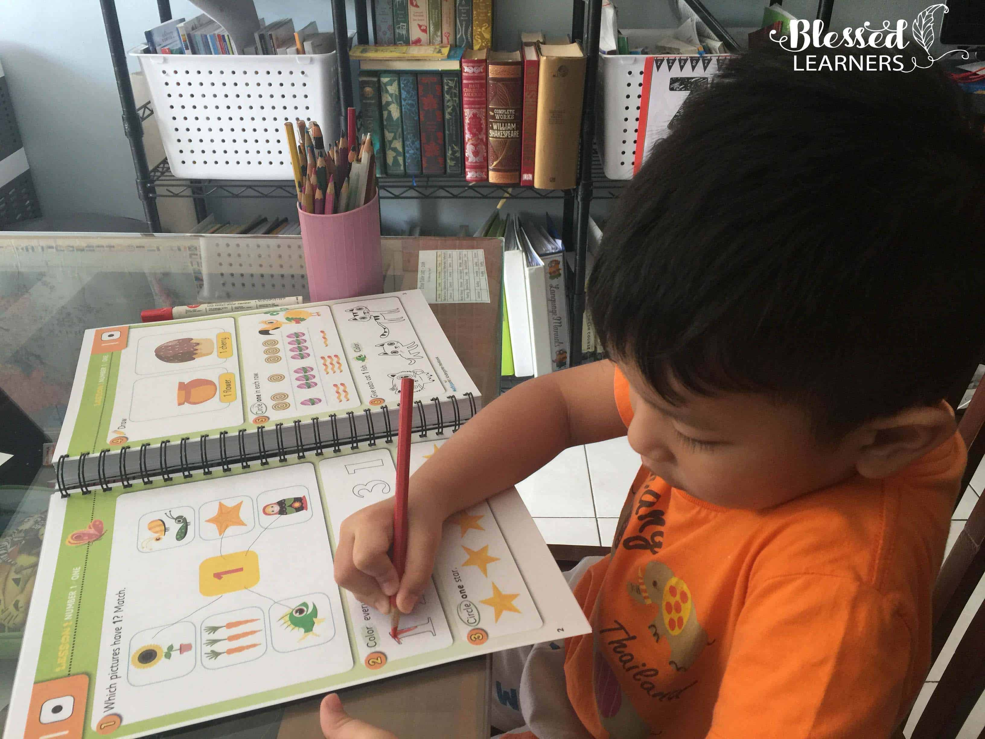 People think that the little learners will get bored to follow up an online learning with workbook. I was wrong about it. It doesn't happen when we use theReading Eggs Workbook,both the 200 essential Math Skills for Kindergarten and 240 Essential Reading Skills for Kindergarten.